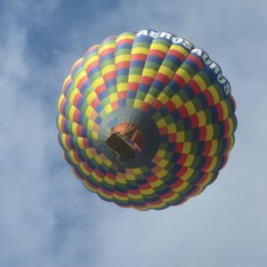 View from Below a Hot Air Balloon